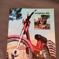 Carros e motociclos: MOTO VESPA VESPINO GL CICLOMOTOR CATALOGO ORIGINAL 1974. Lote 230158725