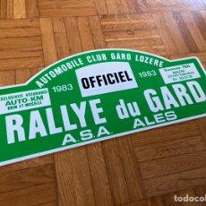 Coches y Motocicletas: DORSAL RALLY RALLYE DU GARD 1983. Lote 230487895