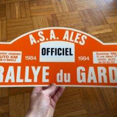 Coches y Motocicletas: DORSAL RALLYE RALLY DU GARD 1984. Lote 230488270