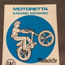 Automobili e Motociclette: G.A.C. GAC BICICLETAS MOTORETTA MOBYLETTE CATALOGO ORIGINAL. Lote 231069370