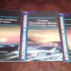 Coches y Motocicletas: LOTE DE TRES LIBROS EDITORIAL PARANINFO DE ELECTRÓNICA DE VEHÍCULOS. Lote 231463565