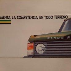 Coches y Motocicletas: CATALOGO PUBLICIDAD COCHE MARCA RANGE ROVER. Lote 232034435