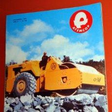 Carros e motociclos: REVISTA ANTIGUA AÑO 1977 ATEMCOP OBRAS PÚBLICAS. ENCARTE PUBLICIDAD EXCAVADORAS JOHN DEERE TRACTOR. Lote 232221310