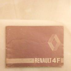 Coches y Motocicletas: MANUAL RENAULT 4F. Lote 232370880