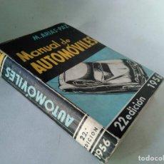 Coches y Motocicletas: MANUAL DE AUTOMÓVILES 1956. Lote 233510410