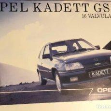Automobili e Motociclette: HOJA PUBLICIDAD OPEL KADETT GSI 16 V ORIGINAL 1988. Lote 234128920