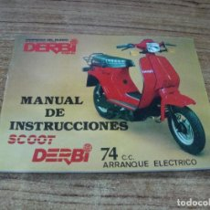 Voitures et Motocyclettes: MANUAL DE INSTRUCCIONES SCOOT DERBI 74 CC ARRANQUE ELECTRICO. Lote 252731270