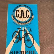 Coches y Motocicletas: G.A.C. GAC BICICLETAS CATALOGO ORIGINAL. Lote 234623765