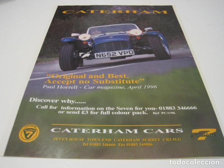 CATERHAM: ANUNCIO PUBLICIDAD 1996 (Coches y Motocicletas Antiguas y Clásicas - Catálogos, Publicidad y Libros de mecánica)