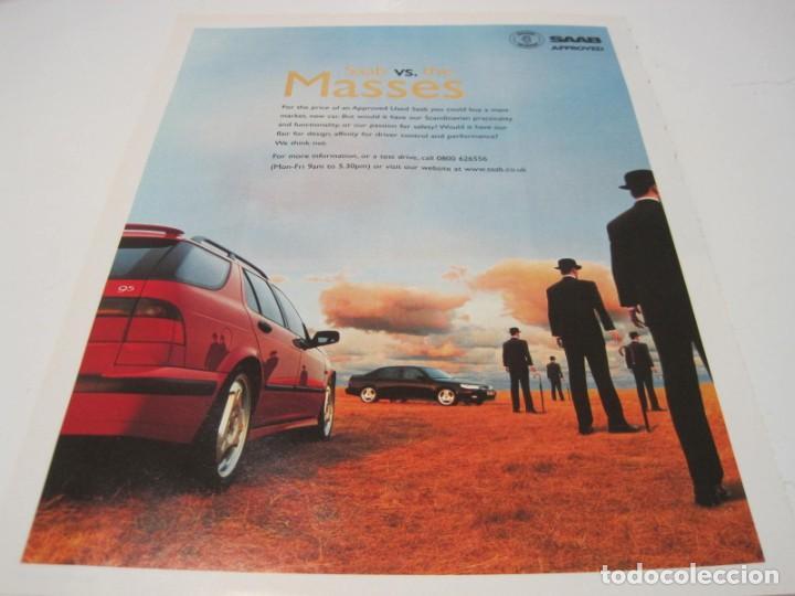 SAAB 95: ANUNCIO PUBLICIDAD 2000 (Coches y Motocicletas Antiguas y Clásicas - Catálogos, Publicidad y Libros de mecánica)