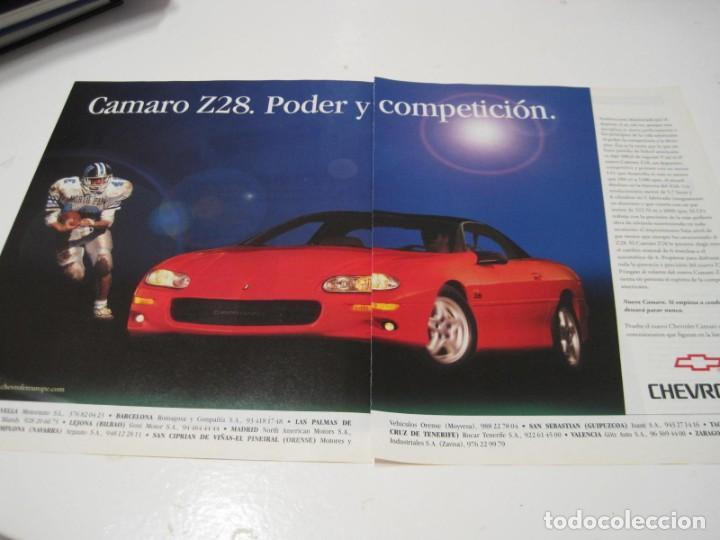 CHEVROLET CAMARO Z28: ANUNCIO PUBLICIDAD 1999 (Coches y Motocicletas Antiguas y Clásicas - Catálogos, Publicidad y Libros de mecánica)