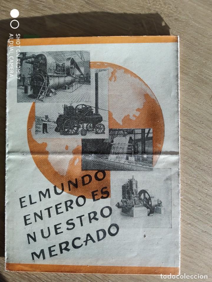 FOLLETO PUBLICITARÍO DE MAQUINARIA BUCKAU R. WOLF (Coches y Motocicletas Antiguas y Clásicas - Catálogos, Publicidad y Libros de mecánica)