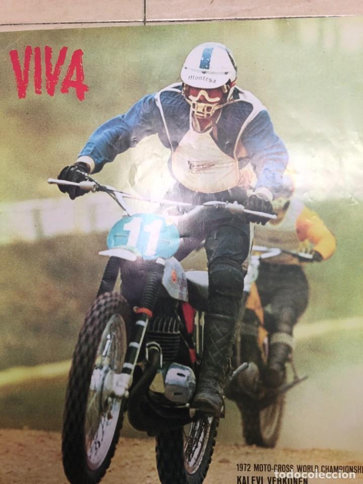 Coches y Motocicletas: CARTEL PUBLICITARIO ORIGINAL MONTESA CAPPRA CAPPRA 250 VR MOTO CROOS KALEVI VEHKONEN MIDE 75 X 50 CM - Foto 2 - 234915560