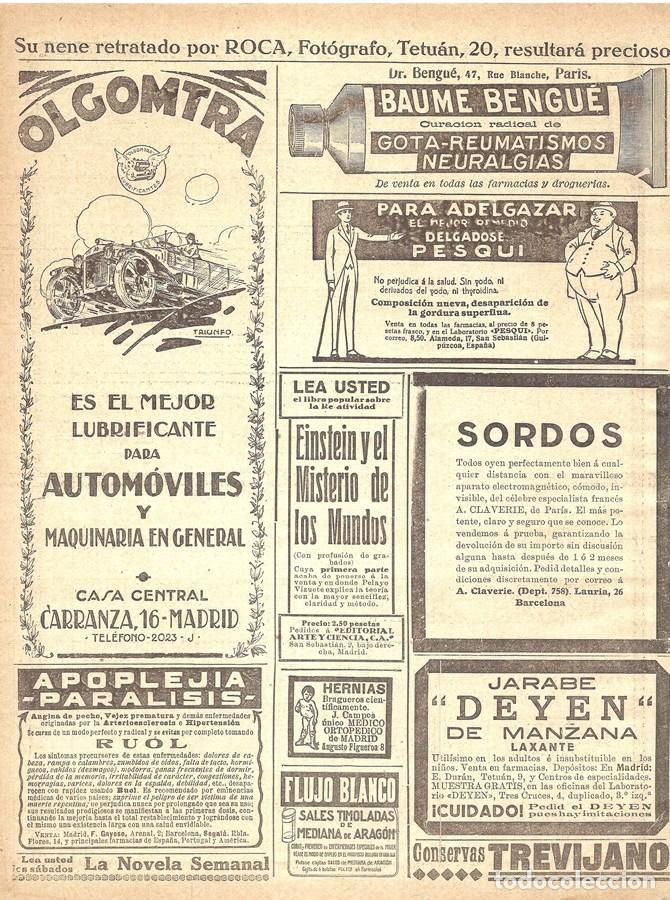 Coches y Motocicletas: 1923 HOJA REVISTA PUBLICIDAD ANUNCIO DE PRENSA LUBRIFICANTE ACEITE AUTOMÓVIL Y MAQUINARIA OLGOMTRA - Foto 2 - 234928605