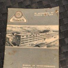 Coches y Motocicletas: MOBYLETTE GAC MANUAL ENTRETENIMIENTO CICLOMOTOR 1965. Lote 235131970