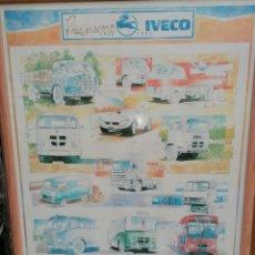 Coches y Motocicletas: PÓSTER ANIVERSARIO PEGASO IVECO 1946-1994 - ÚLTIMA UNIDAD.. Lote 235370200