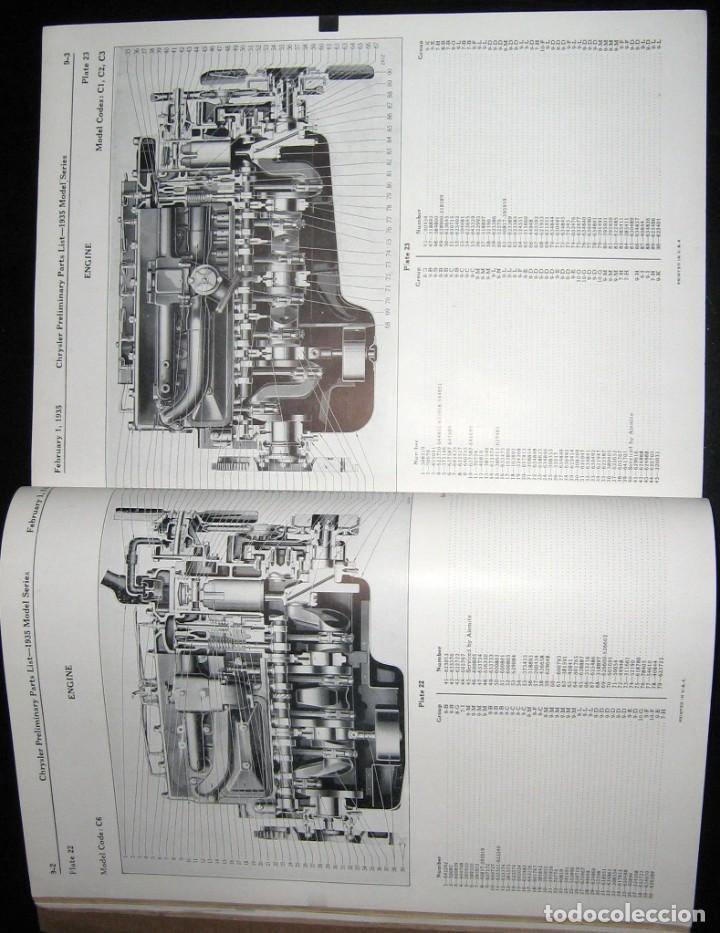 Coches y Motocicletas: CATÁLOGO DE PIEZAS DE RECAMBIO PARA CHRYSLER ORIGINAL DE 1935. - Foto 4 - 235564940