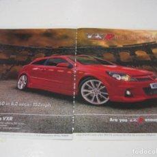 Coches y Motocicletas: OPEL ASTRA VXR: ANUNCIO PUBLICIDAD 2005 -VAUXHALL ASTRA VXR-. Lote 236274495