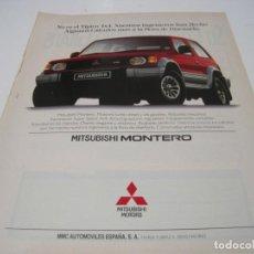 Coches y Motocicletas: MITSUBISHI MONTERO: ANUNCIO PUBLICIDAD 1993. Lote 236274765