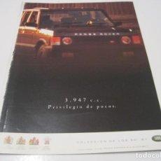 Coches y Motocicletas: RANGE ROVER V8: ANUNCIO PUBLICIDAD 1990. Lote 236275020