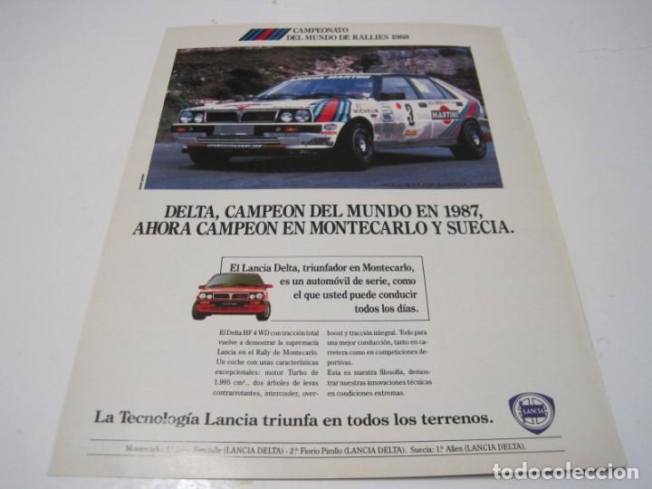 LANCIA DELTA INTEGRALE: ANUNCIO PUBLICIDAD 1988 (Coches y Motocicletas Antiguas y Clásicas - Catálogos, Publicidad y Libros de mecánica)