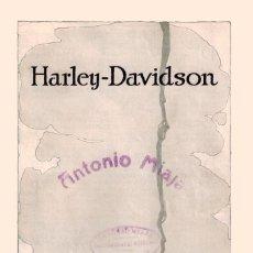 Coches y Motocicletas: FANTASTICO Y UNICO CATALOGO DE MOTOCICLETAS HARLEY DAVIDSON EN CASTELLANO AÑO 1917. ARCHIVO EN PDF. Lote 236619290