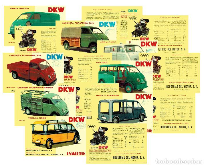 LOTE DE 8 CATÁLOGOS DKW DIVERSOS MODELOS (MICROBÚS / AMBULANCIA...) ARCHIVO PDF (Coches y Motocicletas Antiguas y Clásicas - Catálogos, Publicidad y Libros de mecánica)