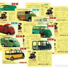 Coches y Motocicletas: LOTE DE 8 CATÁLOGOS DKW DIVERSOS MODELOS (MICROBÚS / AMBULANCIA...) ARCHIVO PDF. Lote 249177885