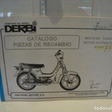 Coches y Motocicletas: CATALOGO PIEZAS DE RECAMBIO DERBI MODELO VARIANT MOTOR AUTOMATICO START. Lote 236690840