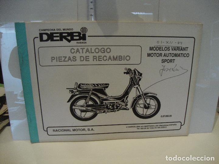 CATALOGO PIEZAS DE RECAMBIO DERBI MODELO VARIANT MOTOR AUTOMATICO SPORT (Coches y Motocicletas Antiguas y Clásicas - Catálogos, Publicidad y Libros de mecánica)