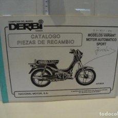 Coches y Motocicletas: CATALOGO PIEZAS DE RECAMBIO DERBI MODELO VARIANT MOTOR AUTOMATICO SPORT. Lote 236690905