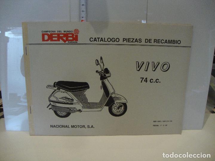 CATALOGO PIEZAS DE RECAMBIO DERBI MODELO VIVO 74 CC (Coches y Motocicletas Antiguas y Clásicas - Catálogos, Publicidad y Libros de mecánica)