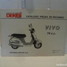 Coches y Motocicletas: CATALOGO PIEZAS DE RECAMBIO DERBI MODELO VIVO 74 CC. Lote 236691215