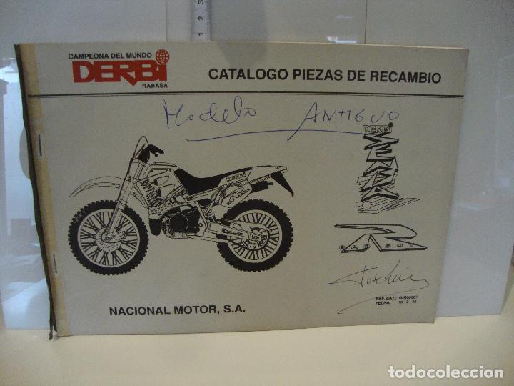 CATALOGO PIEZAS DE RECAMBIO DERBI MODELO SENDA R (Coches y Motocicletas Antiguas y Clásicas - Catálogos, Publicidad y Libros de mecánica)