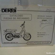 Coches y Motocicletas: CATALOGO PIEZAS DE RECAMBIO DERBI MODELO VARIANT MOTOR AUTOMATICO START. Lote 236691340