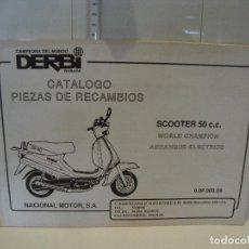 Coches y Motocicletas: CATALOGO PIEZAS DE RECAMBIO DERBI MODELO SCOOTER 50 CC ARRANQUE ELECTRICO. Lote 236691400