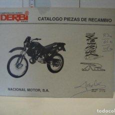 Coches y Motocicletas: CATALOGO PIEZAS DE RECAMBIO DERBI MODELO SENDA R. Lote 236691465