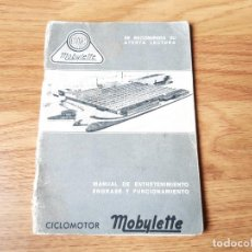 Coches y Motocicletas: MANUAL DE ENTRETENIMIENTO O INSTRUCCIONES DEL CICLOMOTOR MOBYLETTE MODELO 397. MAYO 1980. Lote 236782735