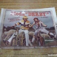 Coches y Motocicletas: FOTOGRAFIA MODA DERBY EL CORTE INGLES. Lote 236868895