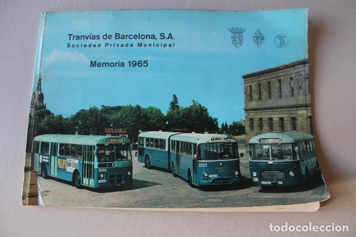 PEGASO, TRANVÍAS DE BARCELONA, MEMORIA 1965, 29,50X21 CM (Coches y Motocicletas Antiguas y Clásicas - Catálogos, Publicidad y Libros de mecánica)