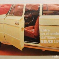 Coches y Motocicletas: SEAT 124 LS, CATÁLOGO PUBLICITARIO. Lote 236998675