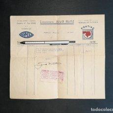 Coches y Motocicletas: OPEL FACTURA DE COMPRA DE UN AUTOMÓVIL 1936 MADRID JULIO BLITZ. Lote 238222555