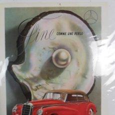 Coches y Motocicletas: CARTEL POSTER DE MERCEDES BENZ-ORIGINAL-SIN DESPRECINTAR-. Lote 238472250