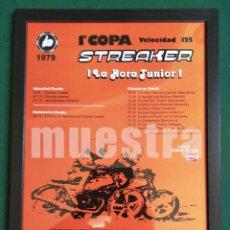 Coches y Motocicletas: CUADRO CON CARTEL COPA BULTACO STREAKER 1979 # DECORACIÓN Y PUBLICIDAD VINTAGE: 45X32,5 CM. Lote 239484265