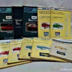 Coches y Motocicletas: MANUAL DE TALLER,TIEMPOS REPARACIÓN,GUIA TASACIONES.COCHES MARCA SEAT.LOTE 10 TOMOS. Lote 239789890