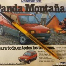 Coches y Motocicletas: SEAT PANDA MONTAÑA AMIGO PARA TODO. PUBLICIDAD.. Lote 239899455