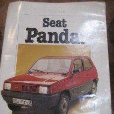 Coches y Motocicletas: CATALOGO ANTIGUO COCHE SEAT PANDA . 20 PAGINAS AÑO 1980. Lote 240975085
