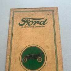 Coches y Motocicletas: FORD MODELO T CATALOGO DE PRESENTACION 1918. Lote 241428145