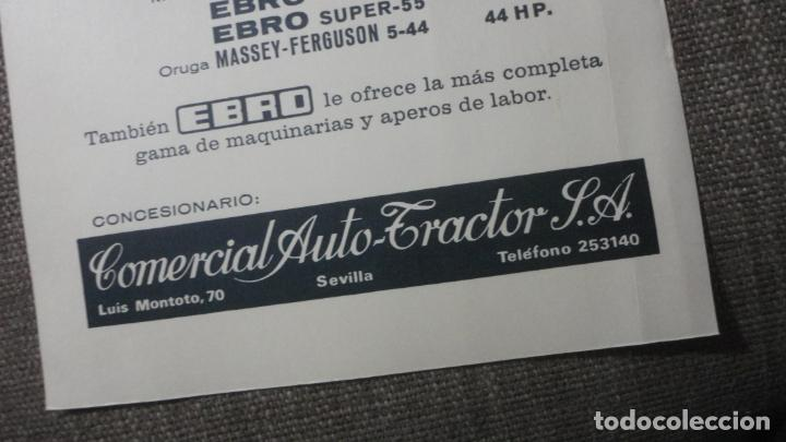Coches y Motocicletas: ANTIGUA PUBLICIDAD.TRACTOTES EBRO. COMERCIAL AUTO TRACTOR S.A LUIS MONTOTO.SEVILLA 1969. - Foto 2 - 241813055