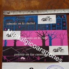 Coches y Motocicletas: CATÁLOGO MOTO CATALANA MAF 175 FABRICADA EN FIGUERES DESPLEGABLE CONCESIONARIO PEDRO GLEZ D ZARAGOZA. Lote 241866135